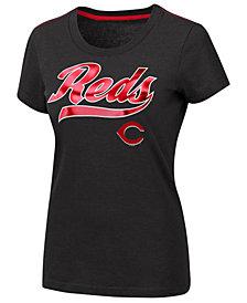 G-III Sports Women's Cincinnati Reds Script Foil T-Shirt