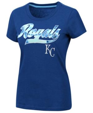 G-iii Sports Women's Kansas City Royals Script Foil T-Shirt