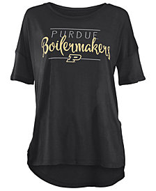 Royce Apparel Inc Women's Purdue Boilermakers Hip Script Modal Crew T-Shirt