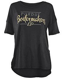 Royce Apparel Inc Women's Purdue Boilermakers Hip Script Modal Crew T-Shirt
