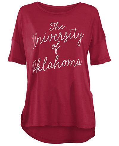 Royce Apparel Inc Women's Oklahoma Sooners Riley Script Modal Crew T-Shirt