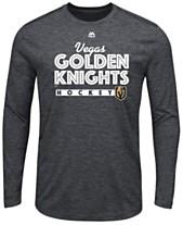 e96310c311b Majestic Men s Vegas Golden Knights Crash the Net Long Sleeve T-Shirt