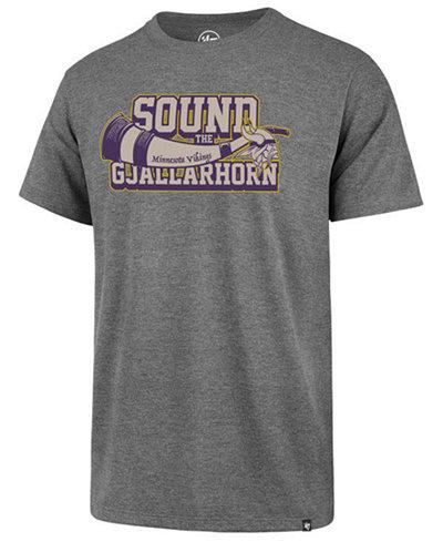 '47 Brand Men's Minnesota Vikings Sound the Horn Club T-Shirt
