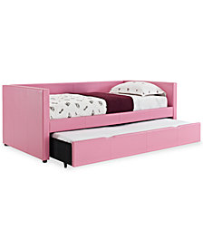 Linley Upholstered Twin Daybed with Roll-Out Trundle Guest Bed