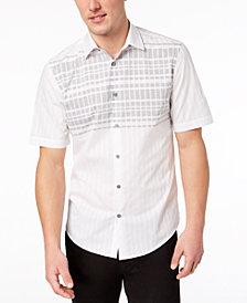 Alfani Men's Stripe Grid Shirt, Created for Macy's