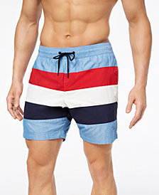 "Tommy Hilfiger Men's Banks 6.5"" Swim Trunks, Created for Macy's"