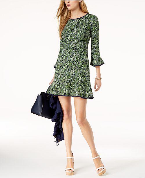 b9b342262e1 MICHAEL Michael Kors. Printed Flounce Dress