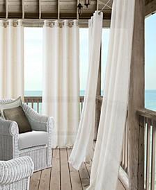 Bali Sheer Indoor/Outdoor Grommet Curtain Panels with Tiebacks
