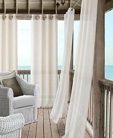 Elrene Bali Sheer Indoor/Outdoor Grommet Curtain Panels with Tiebacks