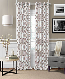 "Elrene Celeste 52"" x 95"" Textured Ironwork Blackout Grommet Curtain Panel"