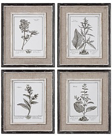 Casual Gray Study Wall Art I, II, III, IV, Set of 4