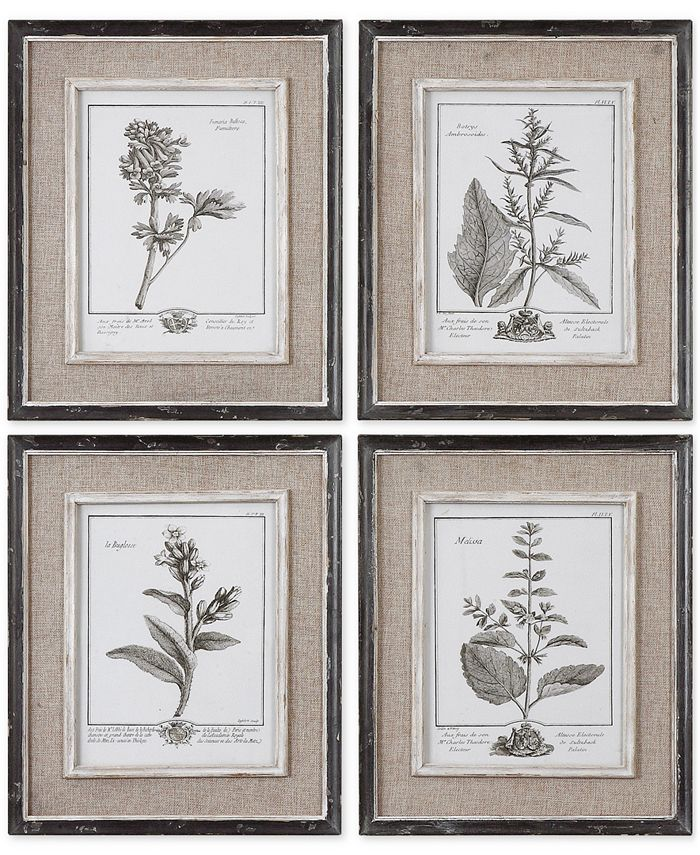 Uttermost - Casual Gray Study Wall Art I, II, III, IV, Set of 4