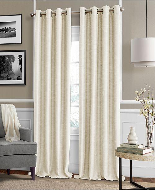 Elrene Brooke 52 X 108 Faux Silk Blackout Grommet Curtain Panel