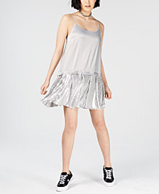 NICOPANDA Mesh-Hem Slip Dress, Created for Macy's