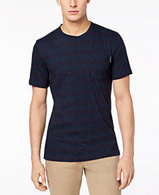 Calvin Klein Jeans Men's Striped Flecked T-Shirt