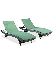 Hawkins Outdoor Chaise Lounge (Set Of 2), Quick Ship