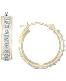 Diamond Accent Hoop Earrings