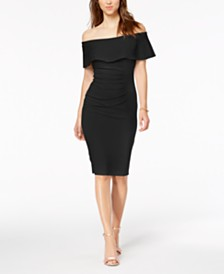 X by Xscape Off-The-Shoulder Sheath Dress
