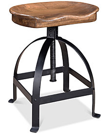 Manna Adjustable Bar Stool, Quick Ship