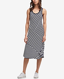 DKNY Multi-Stripe Tank Dress