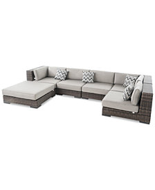 Del Mar Outdoor 6-Pc. Sectional Set, Quick Ship