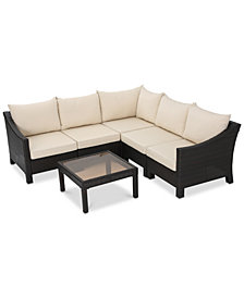 Westfield Outdoor 6-Pc. Sectional Set, Quick Ship