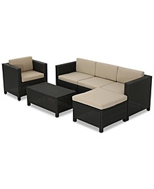 Sadie Outdoor 6-Pc. Sofa Set, Quick Ship