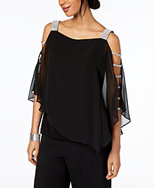 MSK Embellished Cutout Top