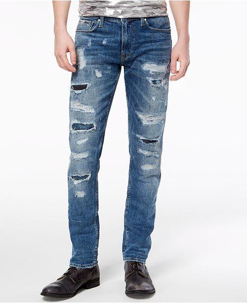 Super GUESS Men's Slim Tapered Fit Stretch Jeans & Reviews - Jeans - Men NV99