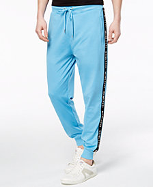 GUESS Men's Text Tape Jogger Pants