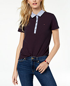 Tommy Hilfiger Chambray-Collar Polo Shirt, Created for Macy's