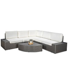 Belgrave Outdoor 6-Pc. Sectional Sofa Set, Quick Ship