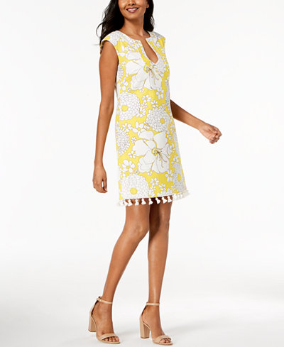 Trina Turk Tassel-Trim Sheath Dress