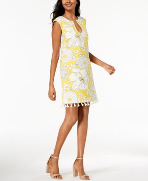 Trina Turk Tassel-Trim Sheath Dress 6038143