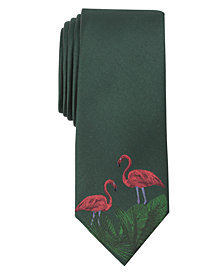 Bar III Men's Garden Flamingo Tie, Created for Macys