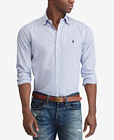 Polo Ralph Lauren Men's Slim Fit Patterned Poplin Shirt