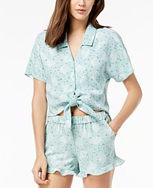 Maison Jules Printed Tie-Hem Shirt, Created for Macy's