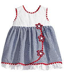 Bonnie Baby Eyelet & Seersucker Dress, Baby Girls