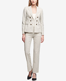 DKNY Double-Breasted Blazer & Bootcut Pants, Created for Macy's