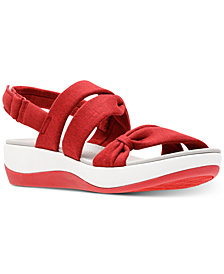 Clarks Collection Women's Cloudsteppers Arla Mae Wedge Sandals