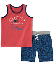 Nautica 2-Pc. Graphic-Print Tank Top & Shorts Set, Baby Boys