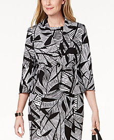 Kasper Printed One-Button Blazer, Regular & Petite