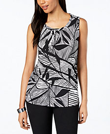 Kasper Twist-Neck Top