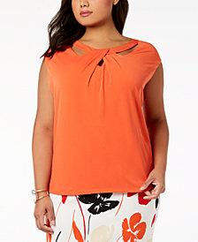 Kasper Plus Size Crossover Top