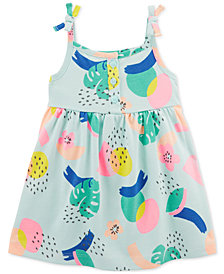 Carter's Baby Girls Tropical-Print Cotton Dress