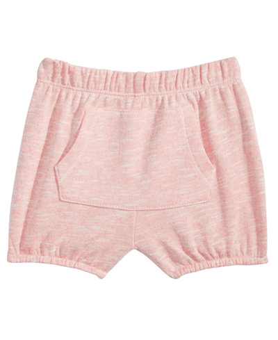 First Impressions Kangaroo-Pocket Bloomer Shorts, Baby Girls, Created for Macy's