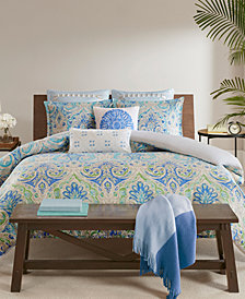Echo Ravi Cotton 3-Pc. Full/Queen Duvet Cover Set