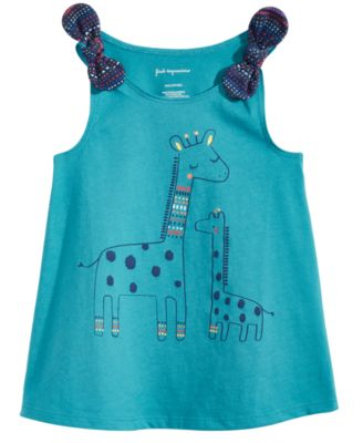 Graphic-Print Cotton Top, Baby Girls, Created for Macy's