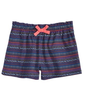 Geo-Print Striped Cotton Shorts, Baby Girls, Created for Macy's
