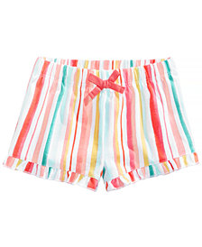 First Impressions Ruffled Cotton Shorts, Baby Girls, Created for Macy's